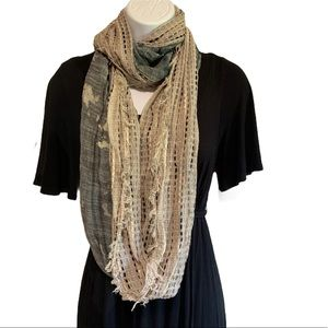 Olsenboye Infinity Scarf Threaded Bleached Accents